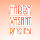 Poster or banner for Vasant Panchami celebration. Royalty Free Stock Images