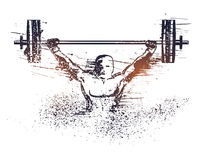 Poster, Banner for Weight Lifting Sport concept. Royalty Free Stock Images