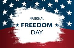 Poster or banners - on  National Freedom Day! - February 1st. Royalty Free Stock Photography
