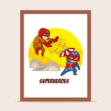 Poster Battle of Superheroes Stock Photography