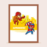 Poster Battle of Superheroes Stock Photos