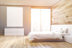 Poster bedroom, side, toned Stock Image