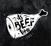 Poster beef chalk Royalty Free Stock Photos
