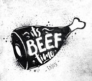 Poster beef Royalty Free Stock Images