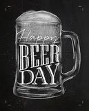 Poster beer day chalk Royalty Free Stock Image