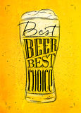 Poster best beer yellow Stock Photography