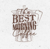 Poster best morning coffee brown Royalty Free Stock Photo