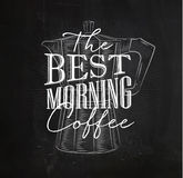 Poster best morning coffee Royalty Free Stock Image