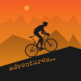 Poster with bicycle Stock Photos