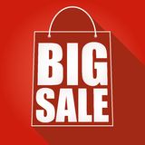 Poster big sale. Shopping bag with shadow Stock Photo