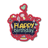 Poster for the birthday greetings. Royalty Free Stock Images