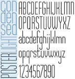 Poster black condensed font and numbers. Stock Image