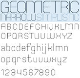 Poster black geometric font and numbers, ultrathin facet letters Royalty Free Stock Image