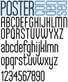 Poster black regular condensed font. Royalty Free Stock Photography