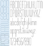 Poster black slim condensed font and numbers Royalty Free Stock Photography