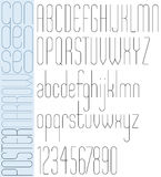 Poster black slim condensed narrow font. Poster black slim condensed narrow font and numbers Royalty Free Stock Photography