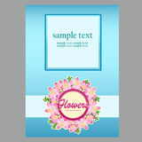 Poster in blue with space for text for your design Royalty Free Stock Image