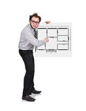 Poster with blueprint Stock Photography