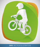 Poster with BMX Racer, Vector Illustration Stock Photo