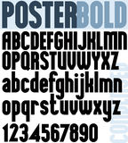 Poster Bold Classic style font. Stock Photo