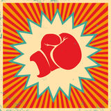 Poster for boxing Stock Photo