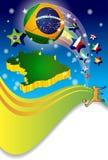 Poster Brazil 2014 soccer Football Stock Image