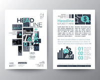 Poster Brochure Flyer design Layout vector template Royalty Free Stock Images
