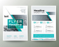 Poster Brochure Flyer design Layout vector template Stock Photography