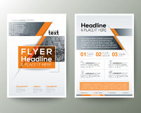 Poster Brochure Flyer design Layout vector template. In A4 size Stock Image