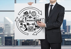 Poster with business chart Stock Images