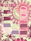 Poster - calendar. Week starts on Sunday. Poster - calendar for 2012. Week starts on Sunday Royalty Free Stock Image