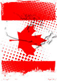 Poster of canada stock illustration