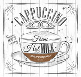 Poster cappuccino Royalty Free Stock Photo