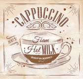 Poster cappuccino kraft Stock Images
