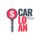 Poster an car loan. Royalty Free Stock Images