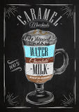 Poster caramel macchiato chalk Stock Photo