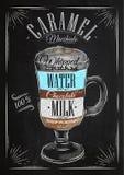 Poster caramel macchiato chalk Stock Photo