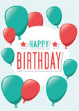 Poster Card Illustration Graphic Vector Happy Birthday To You Stock Photo