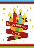 Poster Card Illustration Graphic Vector Happy Birthday To You Stock Image