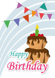 Poster Card Illustration Graphic Vector Happy Birthday To You Stock Images