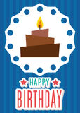 Poster Card Illustration Graphic Vector Happy Birthday To You Royalty Free Stock Photo