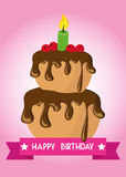 Poster Card Illustration Graphic Vector Happy Birthday To You Royalty Free Stock Images