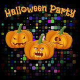 Poster cartoon-style fun crazy disco party celebration of Hallow Royalty Free Stock Photo