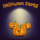Poster cartoon-style fun mysterious disco party celebrating Hall Royalty Free Stock Images