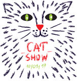 Poster for the cats show or vet advertisiment Stock Photos
