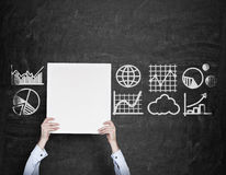 Poster with charts and graphs Stock Photography