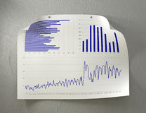 Poster with Charts Royalty Free Stock Photos
