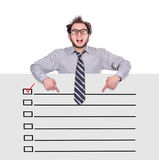 Poster with check box Royalty Free Stock Photography