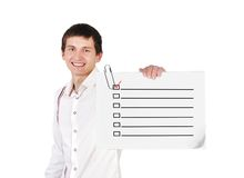 Poster with checklist Royalty Free Stock Photo