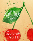 Poster cherry Stock Images